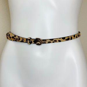 J. Crew | Cheetah Print Calf Hair Belt XS
